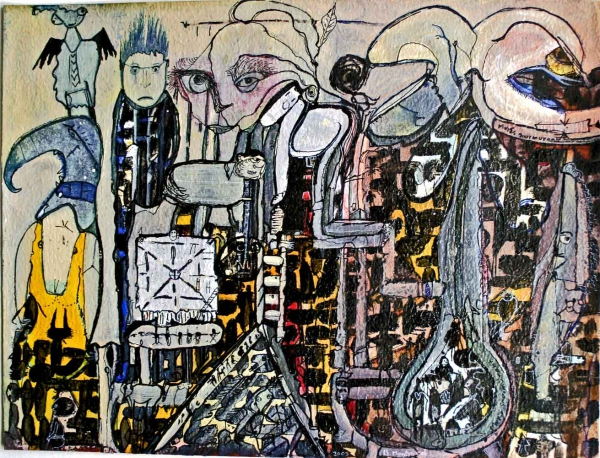 """""""Murés murmurant"""", de la maçonnerie en peinture, 2003"""