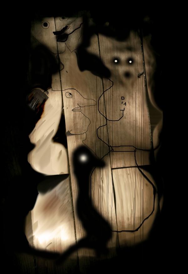 Famille de spectres avec canard dans la nuit, 2009