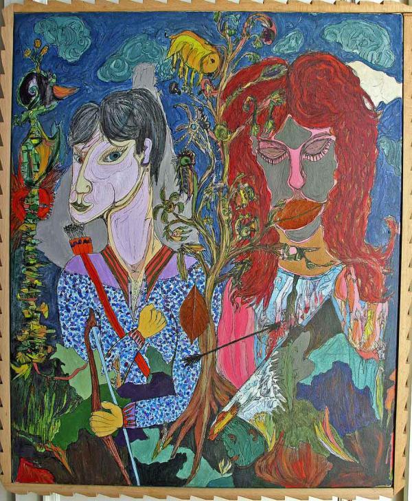 """""""Touchée, ou le Chasseur"""", une peinture de 1988"""