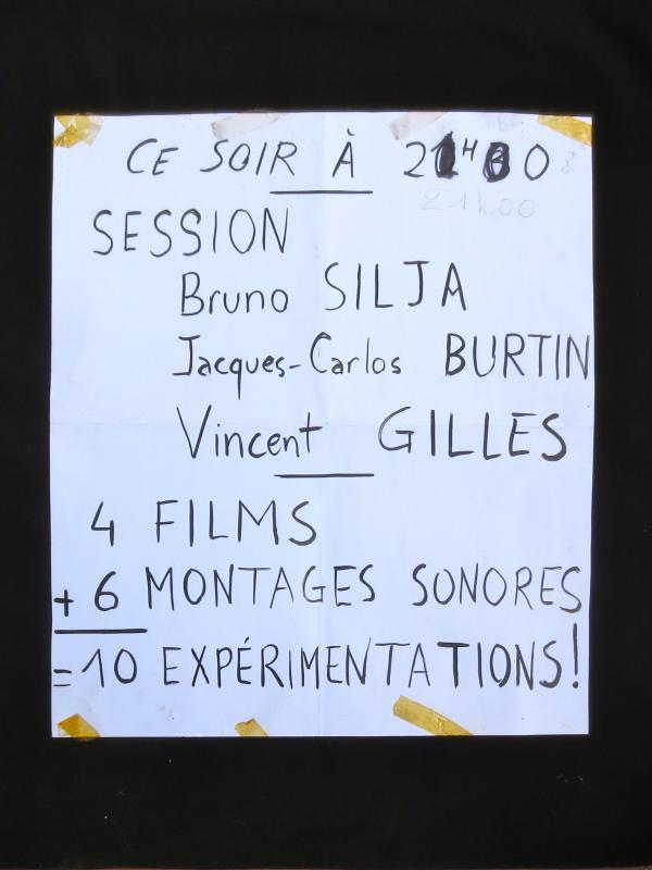 Affichette de la session du groupe Zoom Back Camera au Salon Ecritures, 1977