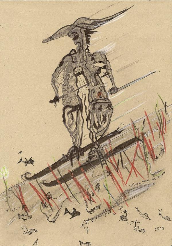 Véloce parmi les traits, 2008