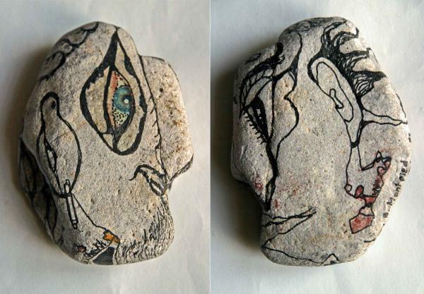 Le Cheikh, pierre dessinée, 1993